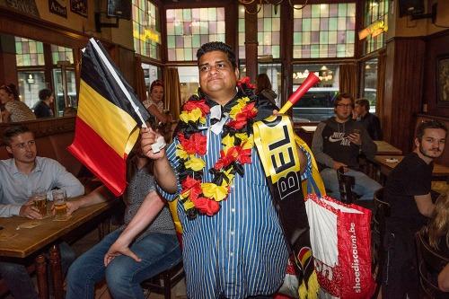 2016/06/14 brussel belgium : sfeer EK wedstrijd Belgie-Italie foto ivan put