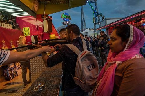 2016/08/08 brussel belgium : zuidfoor kermis foor in brussel foire foto ivan put