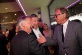 2018/05/21 anderlecht belgium : gala diner op anderlecht voor oudspelers met oud voorzitter roger vande nstock en nieuwe voorzitter marc coucke. jan mulder eddy merckx marc degryse foto ivan put