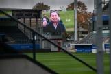 2018/11/02 leuven belgium : voetbalclub ohl rouwt om zijn voorzitter Vichai Srivaddhanaprabha die overleed in een helicoptercrash. het stadion in Leuven foto ivan put